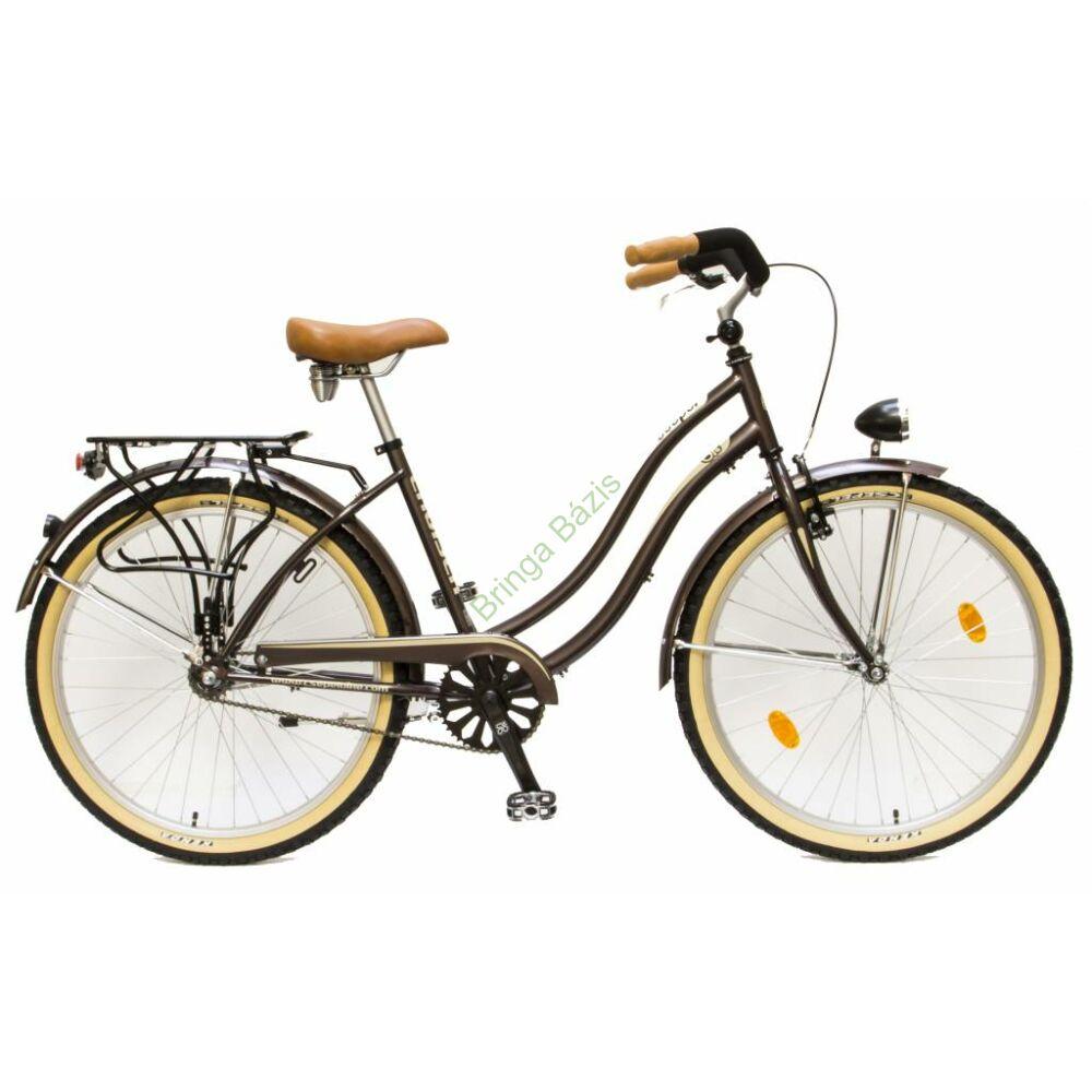 Csepel Cruiser Neo női city kerékpár, 1seb, barna