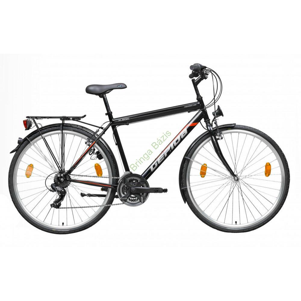 Gepida Alboin 100 trekking kerékpár - fekete-piros