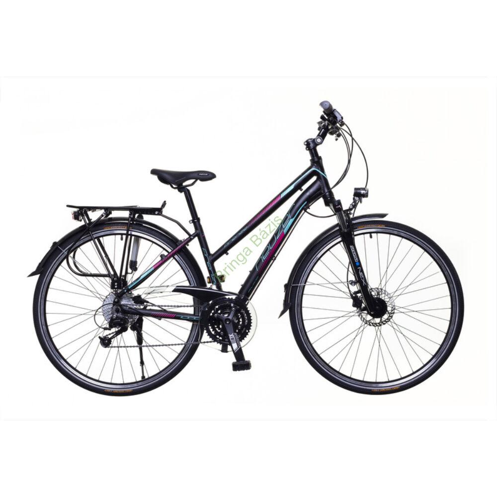 Neuzer Firenze 400 trekking kerékpár, fekete-türkiz