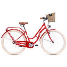 CTM FIORE agyváltós city kerékpár, piros