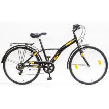 Csepel Mustang gyerek kerékpár 24'', Fekete-Narancs