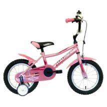 Hauser Puma gyerek kerékpár 14'', világos pink