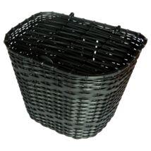 Első kosár, műanyag fedeles, fekete