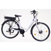 Neuzer Zagon női E-trekking kerékpár, fehér, 6sp