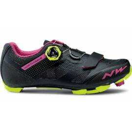 Northwave Razer női MTB kerékpáros cipő - fekete-fluo sárga