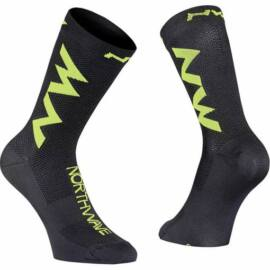 Northwave Extreme Air zokni, fekete-fluo lime