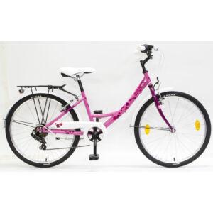 Csepel Flora gyerek kerékpár 24'', 6seb., Rózsaszín