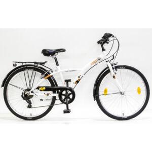 Csepel Mustang gyerek kerékpár 24'', Fehér-Narancs