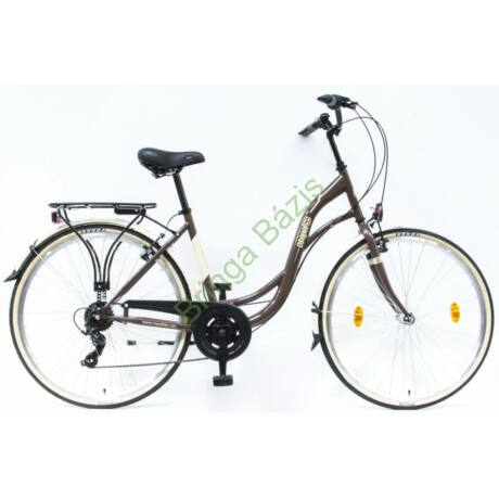 Csepel Velence kerékpár, barna