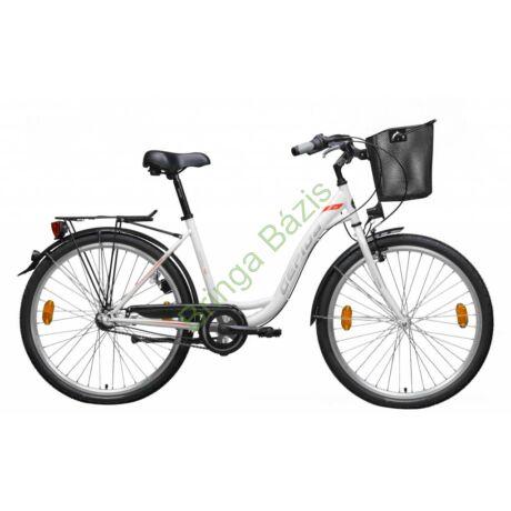 Gepida Reptila 50 city kerékpár - fehér/piros