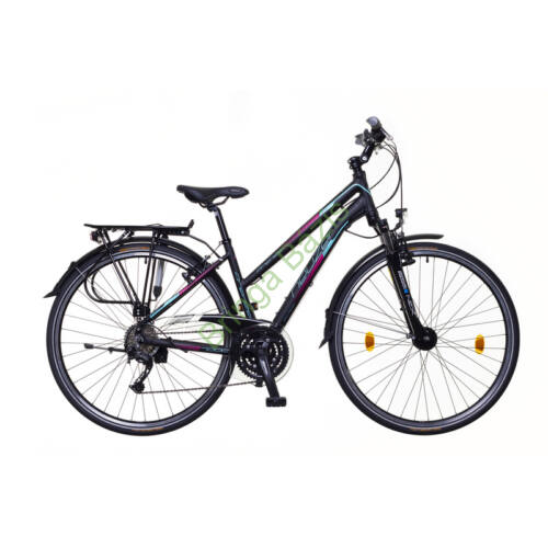 Neuzer Firenze 300 női trekking kerékpár, fekete-türkiz