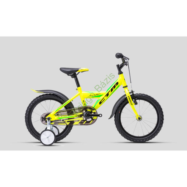 CTM FLASH 16 gyerek kerékpár (zöld)