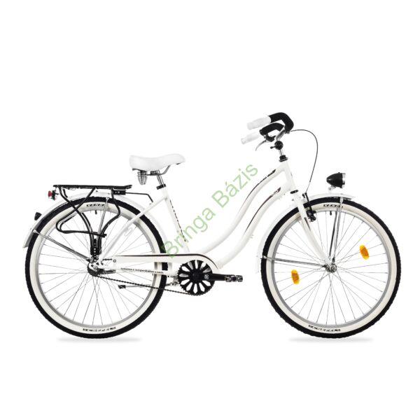 Csepel Cruiser Neo női city kerékpár, agyváltós, fehér