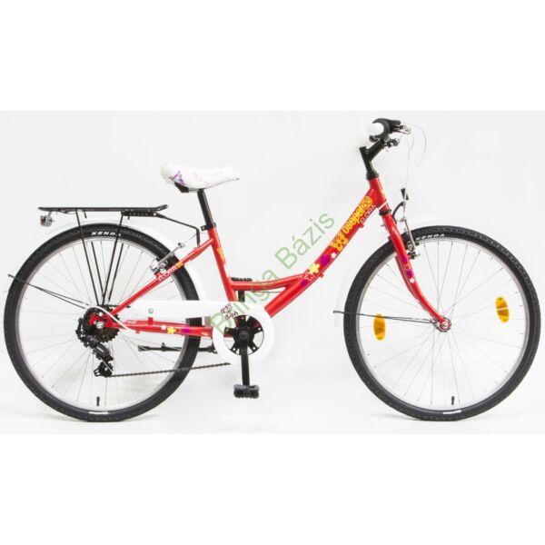 Csepel Flora gyerek kerékpár 20'', 6seb, piros