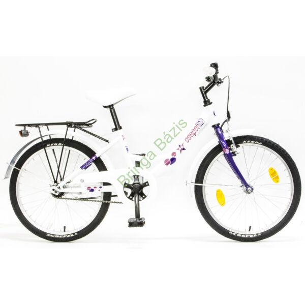 Csepel Hawaii gyerek kerékpár 20'', fehér-lila
