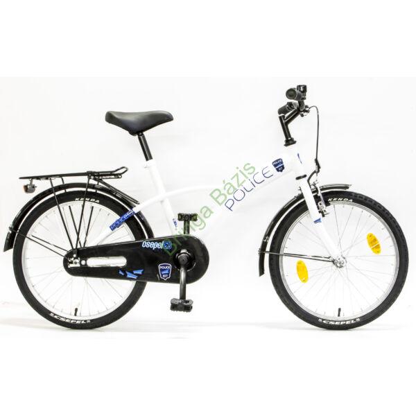 Csepel Police gyerek kerékpár 20'', fehér