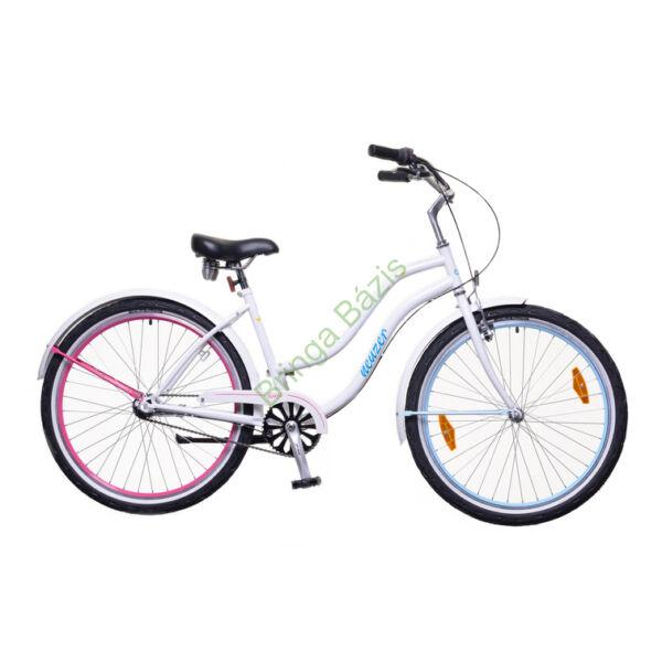 Neuzer Miami női cruiser kerékpár, agyváltós - fehér-pink
