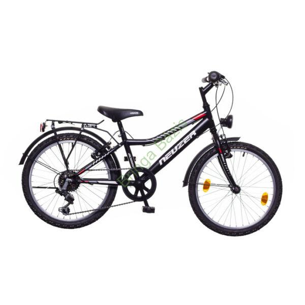 Neuzer Bobby City gyerekkerékpár 20'', 6seb, fekete-piros
