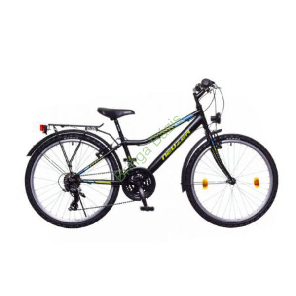 Neuzer Bobby City gyerekkerékpár 20'', 6seb, fekete-zöld