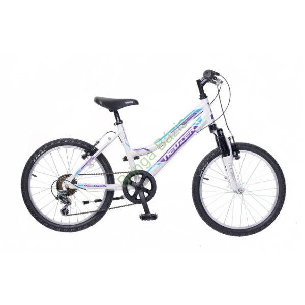 Neuzer Mistral gyerekkerékpár 20'', 6seb, fehér-lila