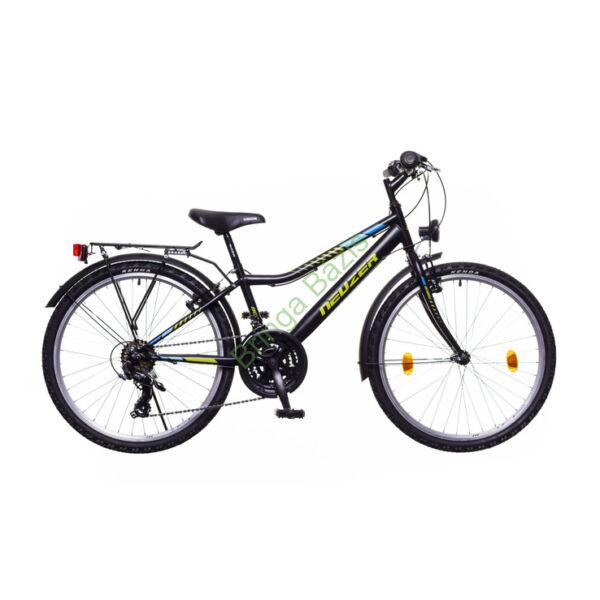 Neuzer Bobby City gyerekkerékpár 24'', 18seb, fekete-zöld