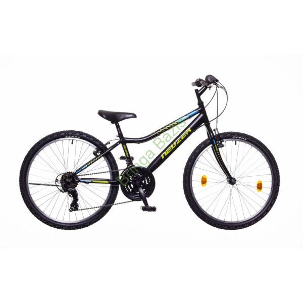 Neuzer Bobby gyerekkerékpár 24'', 18 seb, fekete-zöld