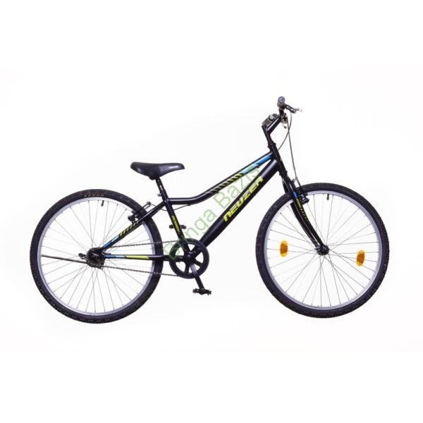 Neuzer Bobby gyerekkerékpár 24'', 1 seb, fekete-zöld