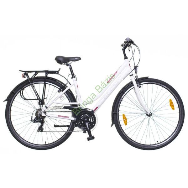 Neuzer Ravenna 50 Női trekking kerékpár, fehér-bordó