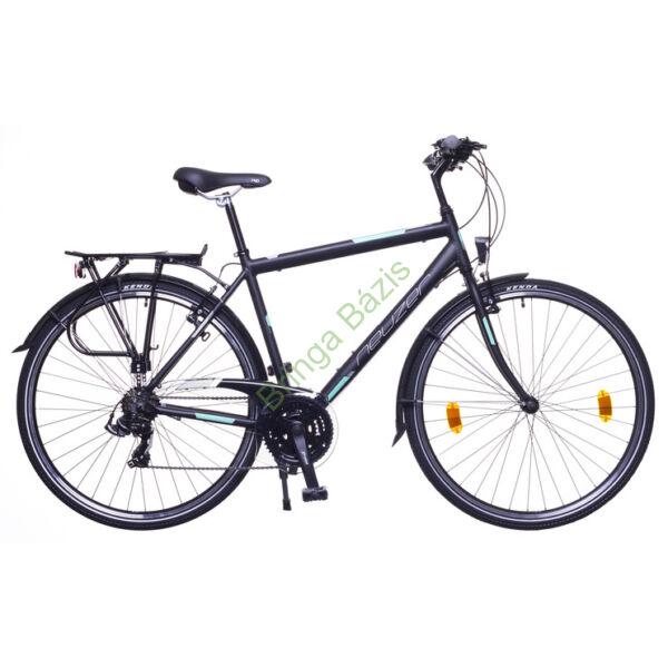 Neuzer Ravenna 50 trekking kerékpár, 21seb, fekete-türkiz